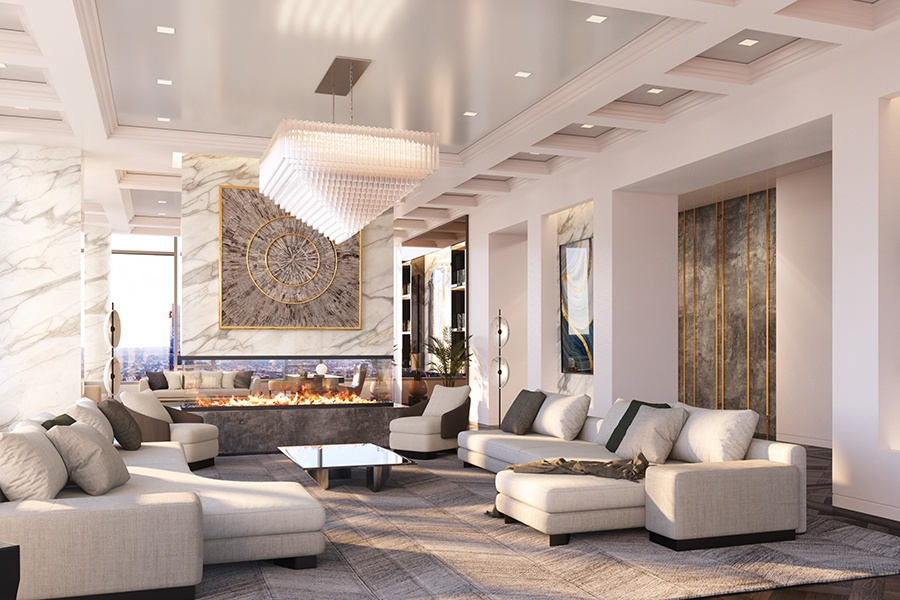 The Laurel Penthouse living room
