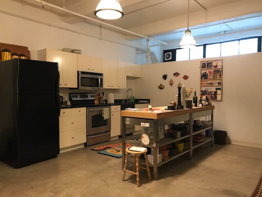 apartment for rent old city live work loft kitchen