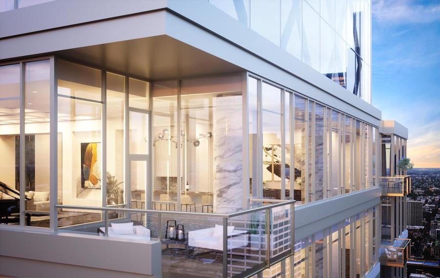 the laurel penthouse balcony