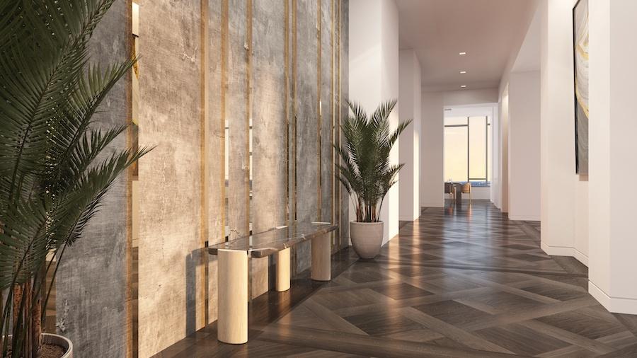 the laurel penthouse hallway