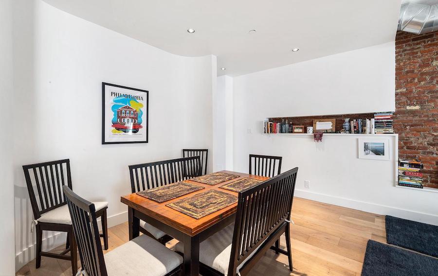 condo for sale rittenhouse modern condo dining room