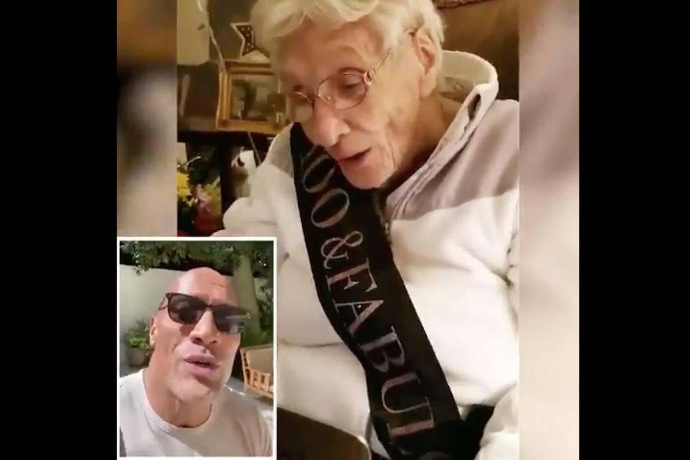 dwayne johnson marie grover the rock birthday video