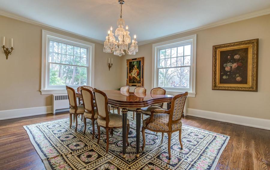 house for sale bryn mawr regency colonial dining room