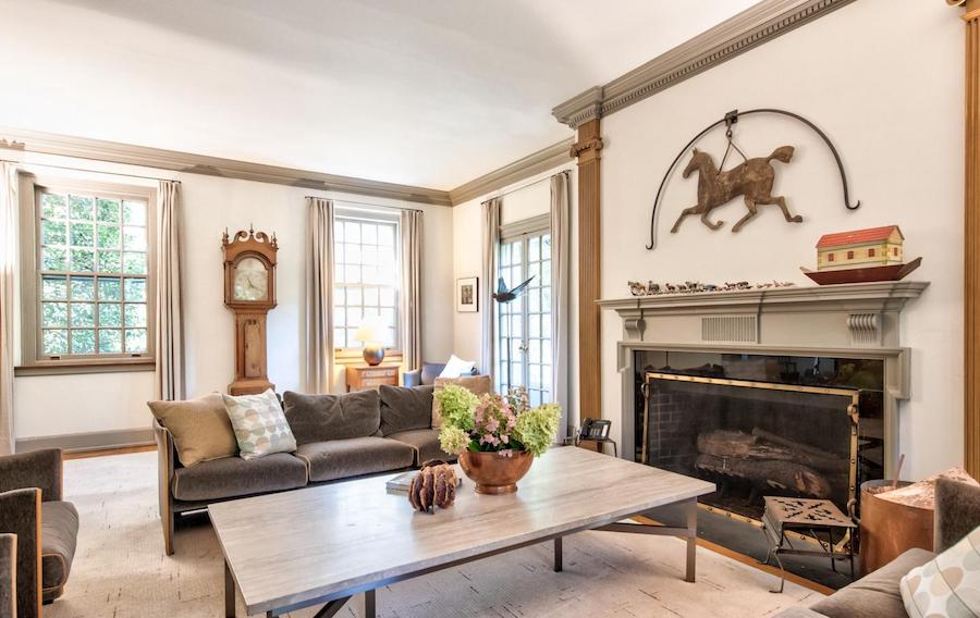 house for sale chestnut hill contemporary colonial living room