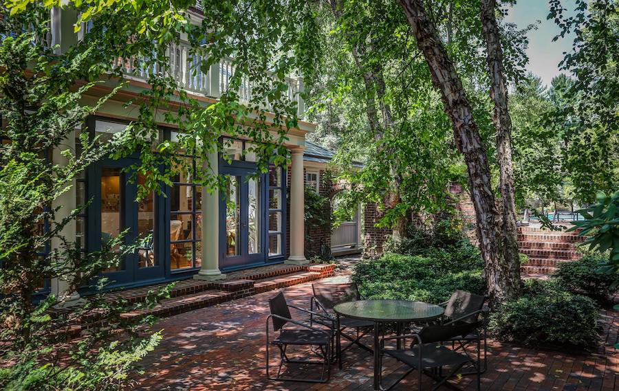 house for sale chestnut hill contemporary colonial side patio