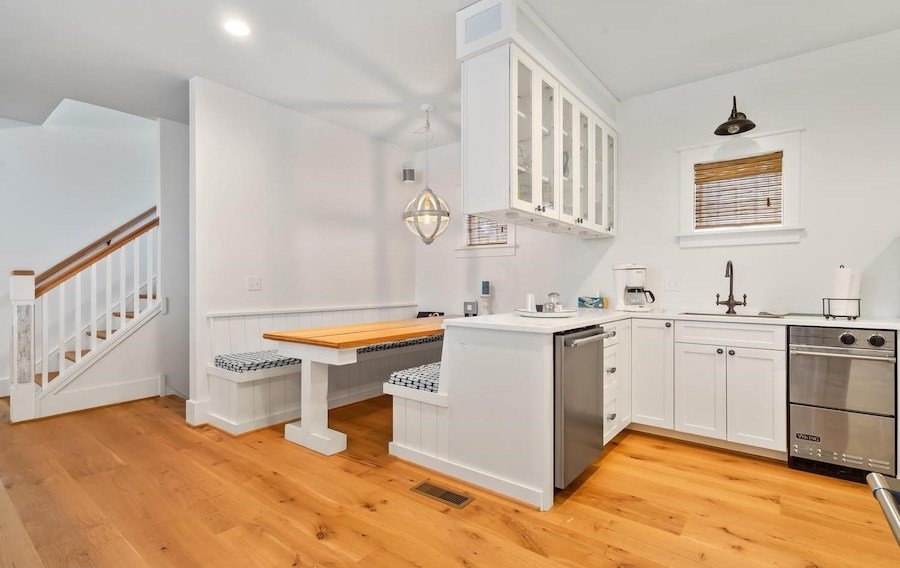 house for sale dewey beach neotraditional estate dining nook and beverage station