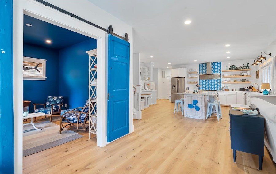 house for sale dewey beach neotraditional estate great room and den