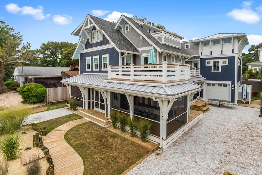 house for sale dewey beach neotraditional estate exterior front