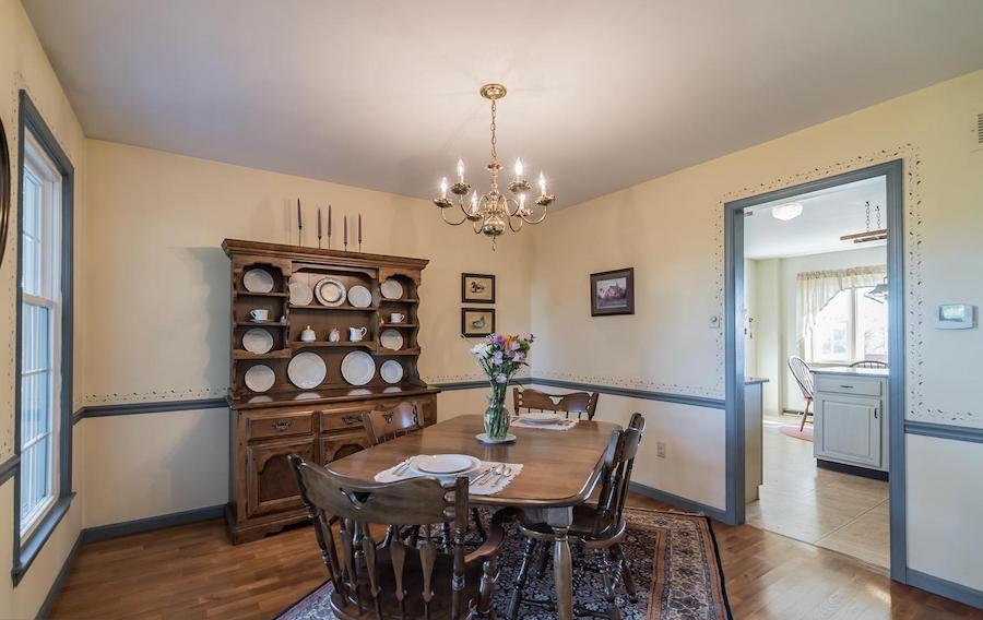 house for sale erwinna hilltop colonial dining room