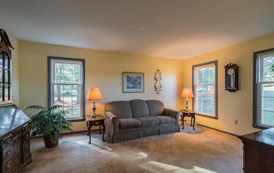 house for sale erwinna hilltop colonial living room