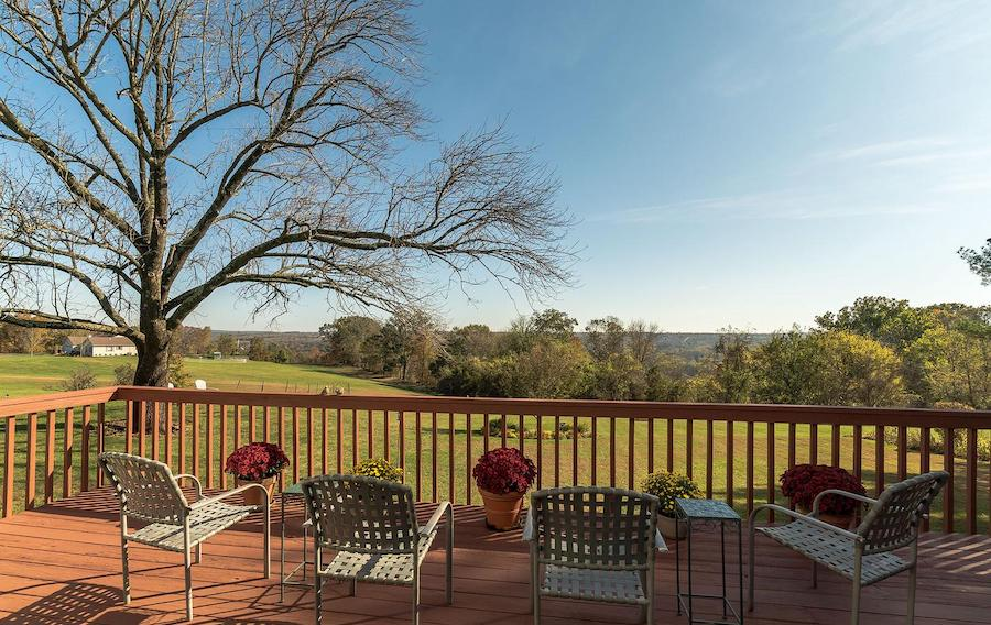 house for sale erwinna hilltop colonial rear deck and view