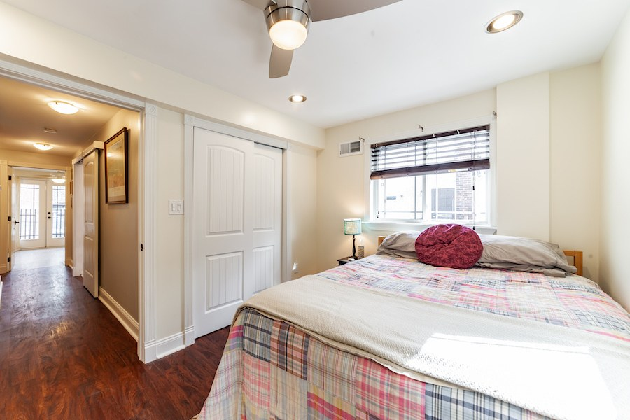 house for sale east kensington rebuilt rowhouse second-floor bedroom