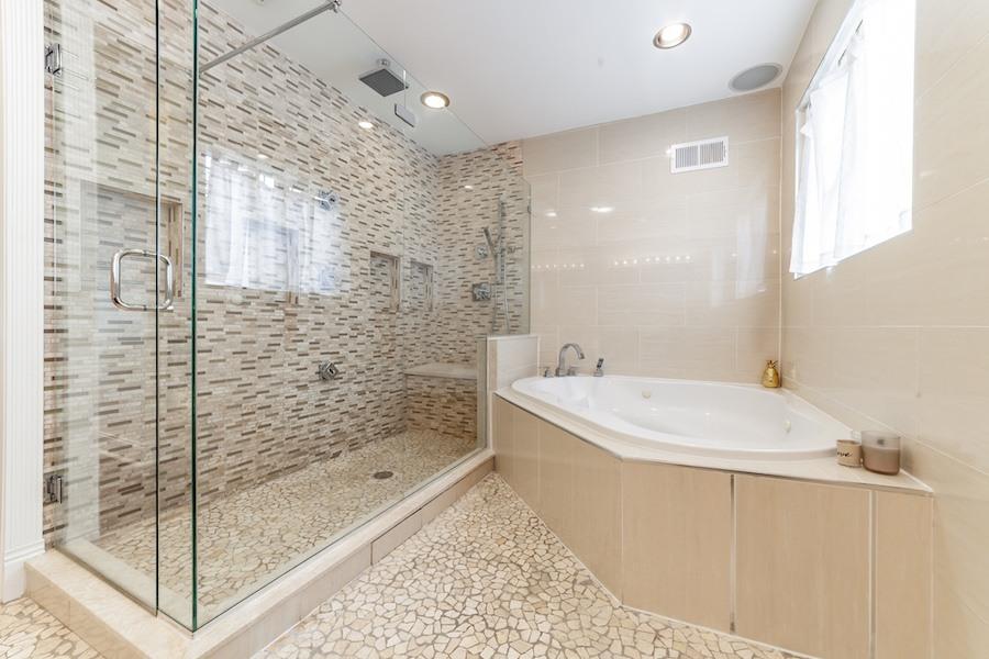 house for sale east kensington rebuilt rowhouse master bathroom