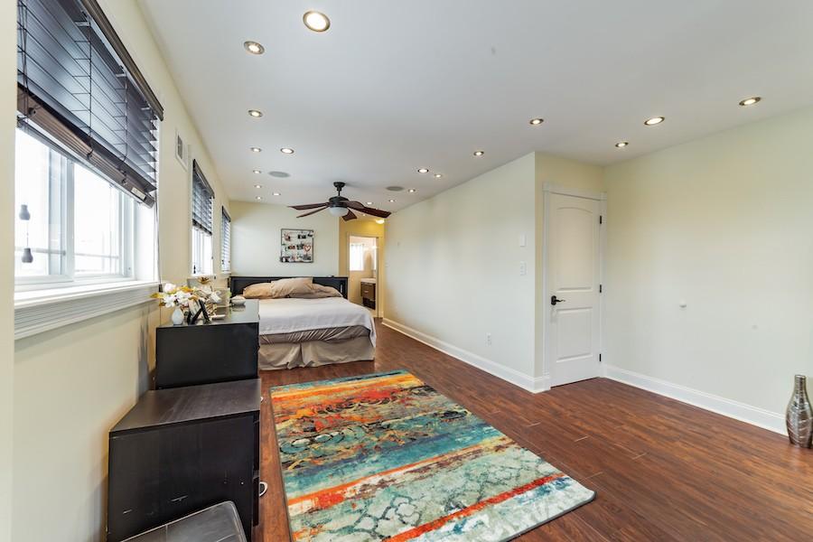 house for sale east kensington rebuilt rowhouse master bedroom