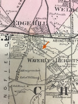 house for sale glenside montier homestead 19th-century map