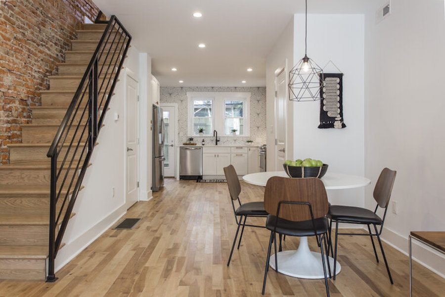 house for sale point breeze rachel street restoration dining area and kitchen