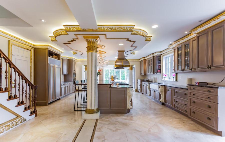 house for sale villanova french baroque manor kitchen