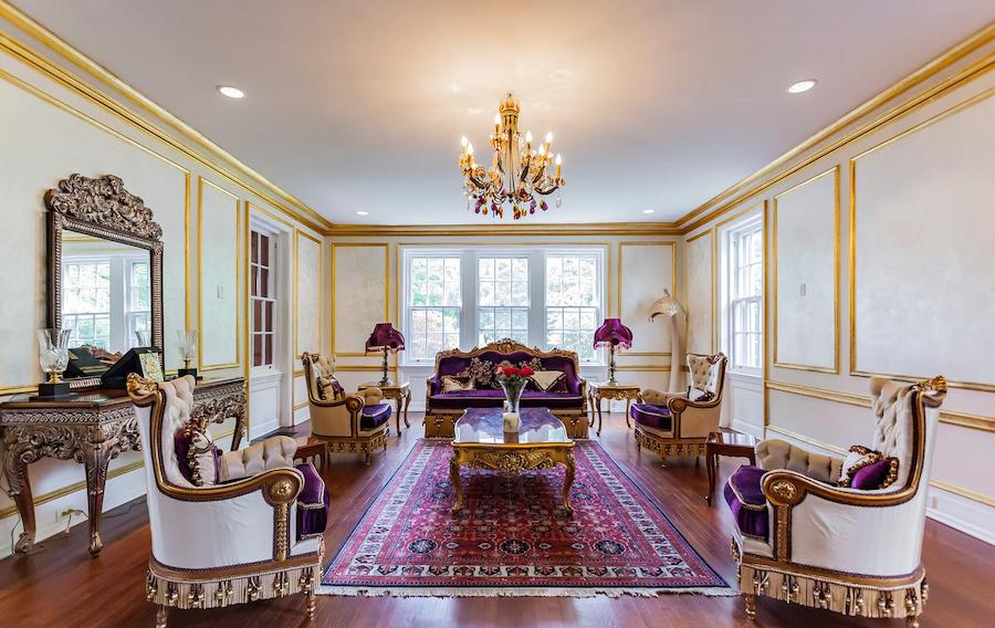 house for sale villanova french baroque manor formal living room
