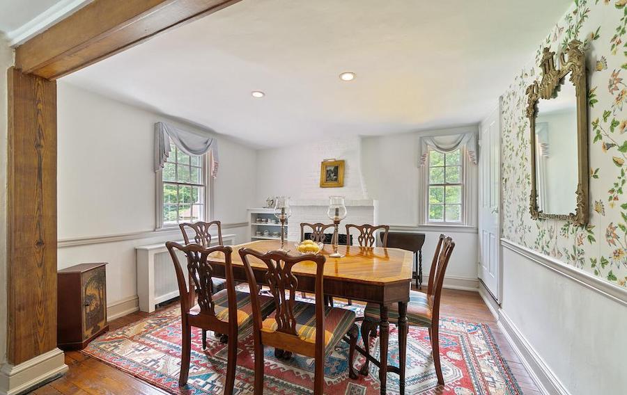 house for sale wayne pa bank house dining room