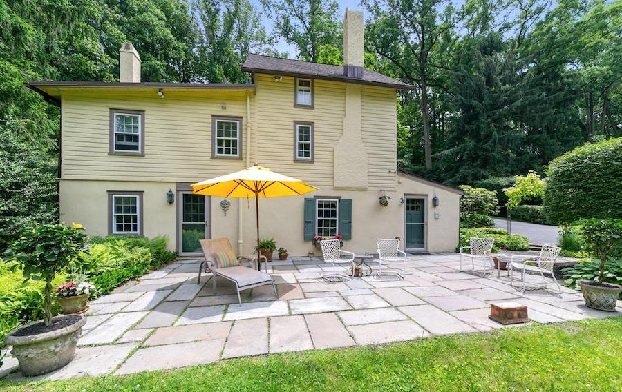 house for sale wayne pa bank house rear elevation and patio