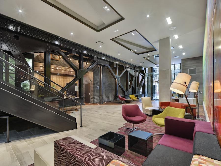 the harper apartment profile lobby