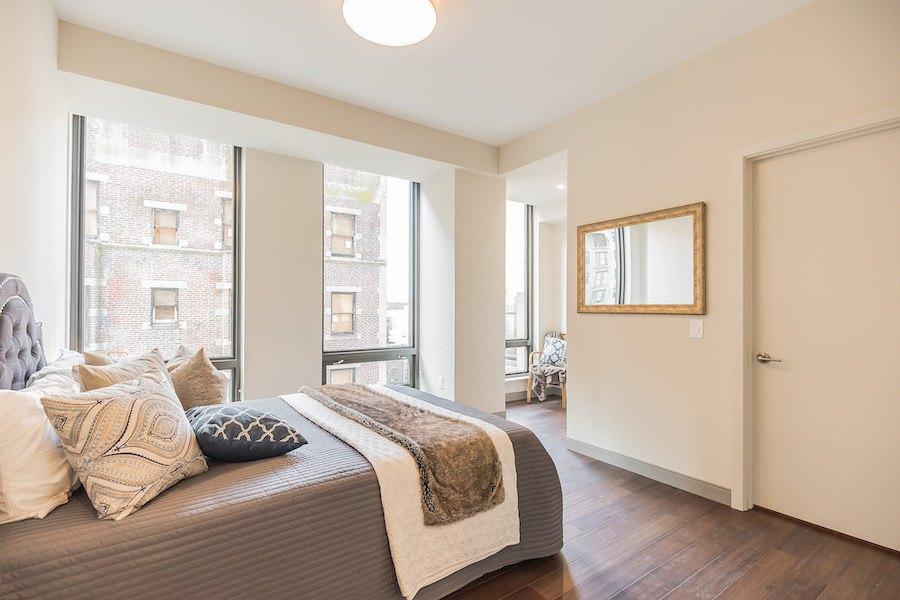 the harper apartment profile model 2br master bedroom