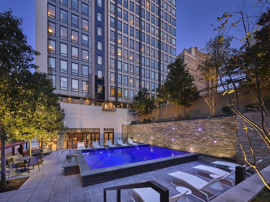 the harper apartment profile terrace pool level