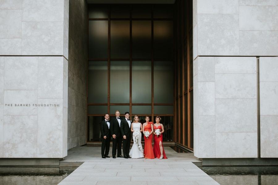 Barnes Foundation bridal party