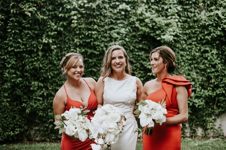 Barnes Foundation bridesmaid portrait