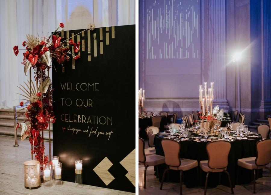 Franklin Institute wedding reception