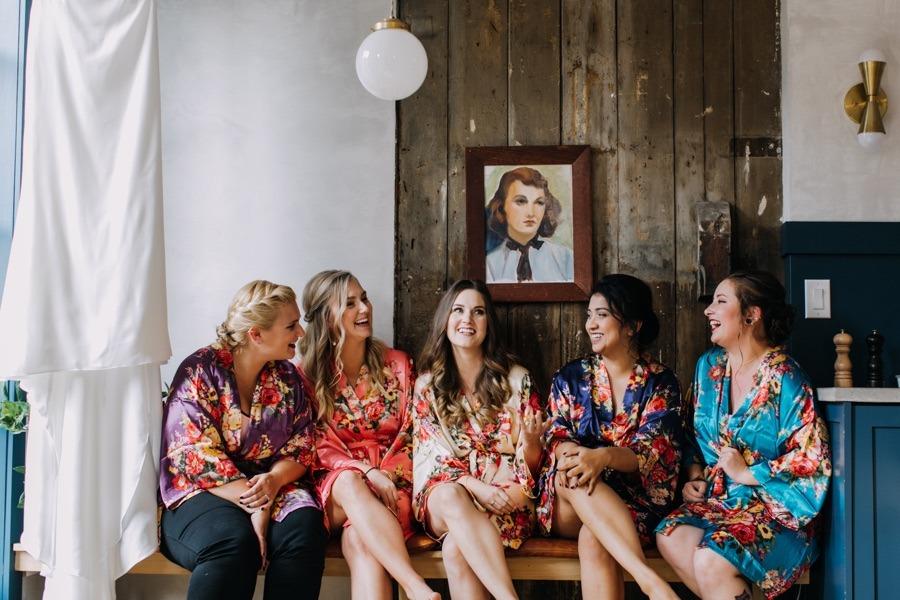 Floral bridesmaids robes