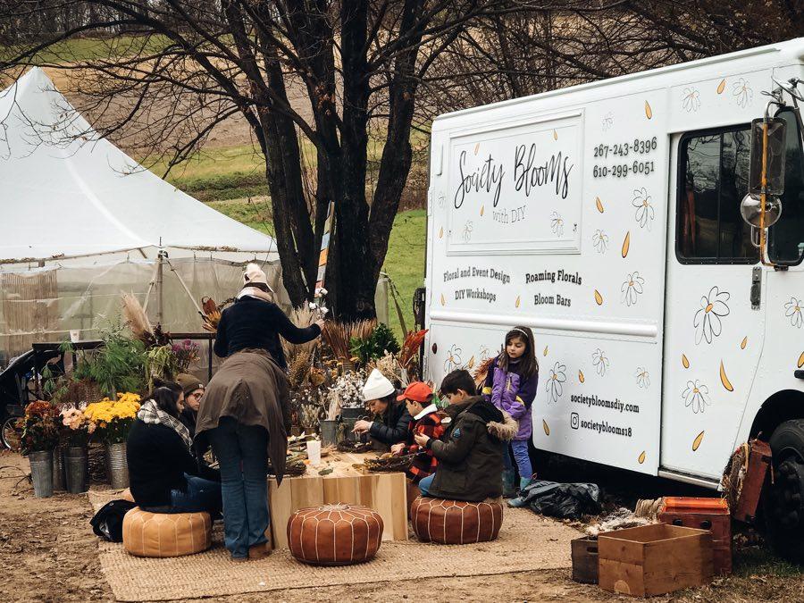 society blooms flower truck