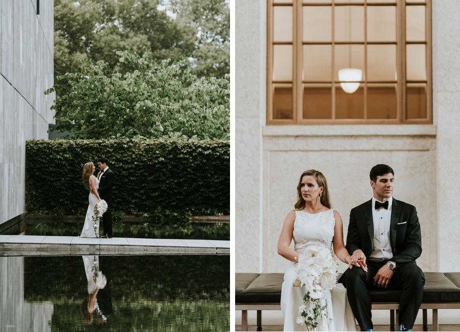 Barnes Foundation wedding portrait