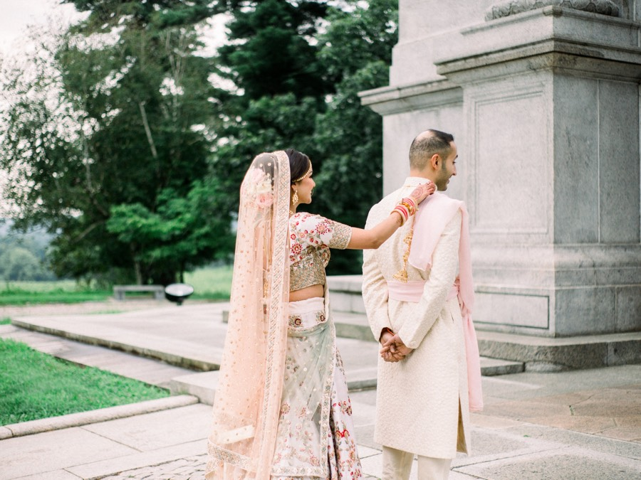 Indian wedding first look