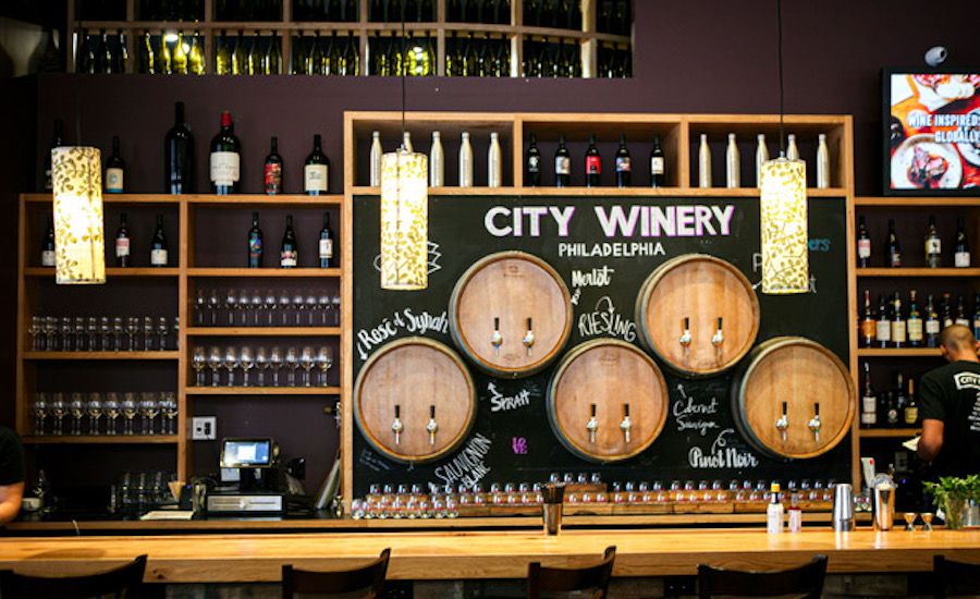 city winery overview bar detail