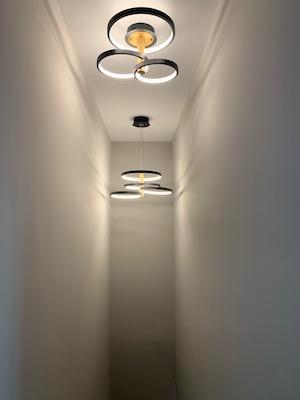 condo for sale fishtown modern industrial condo lighting in foyer stairwell