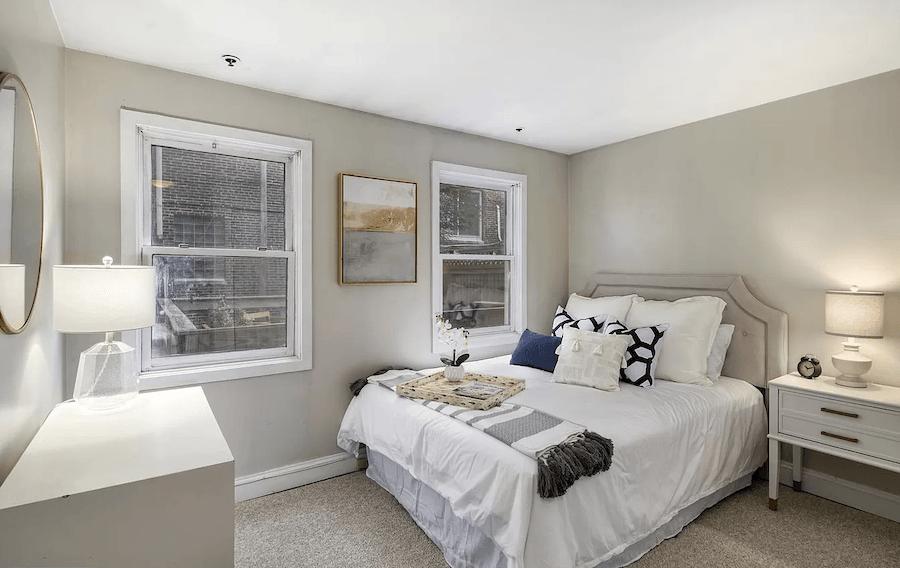 condo for sale graduate hospital starter condo master bedroom