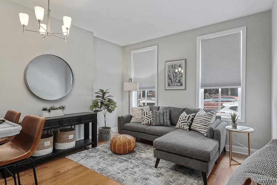 condo for sale graduate hospital starter condo living room