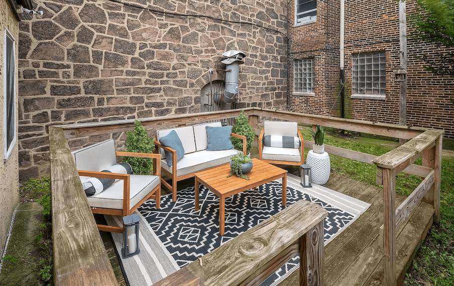 condo for sale graduate hospital starter condo backyard and deck