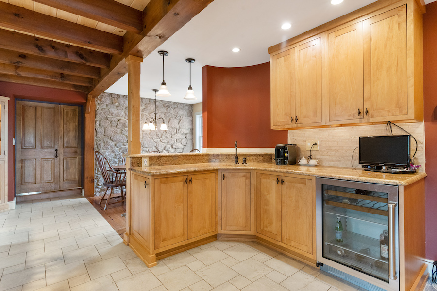 house for sale collegeville live-work-play farm bar and breakfast room