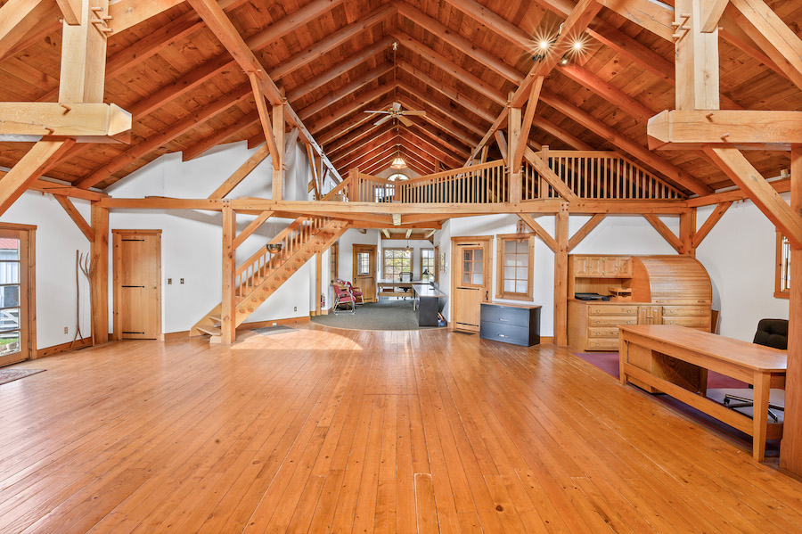 house for sale collegeville live-work-play farm bank barn interior