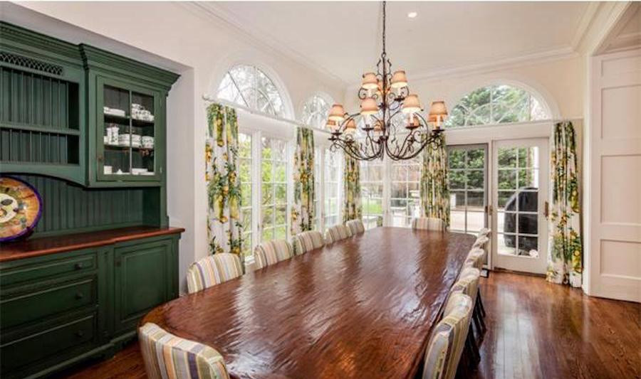 devon colonial revival mansion casual dining room