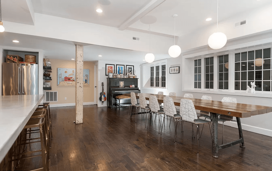 house for sale east falls carriage house retreat dining area