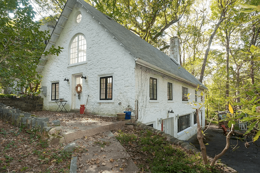 house for sale east falls carriage house retreat exterior perspective