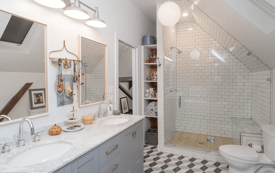 house for sale east falls carriage house retreat master bathroom