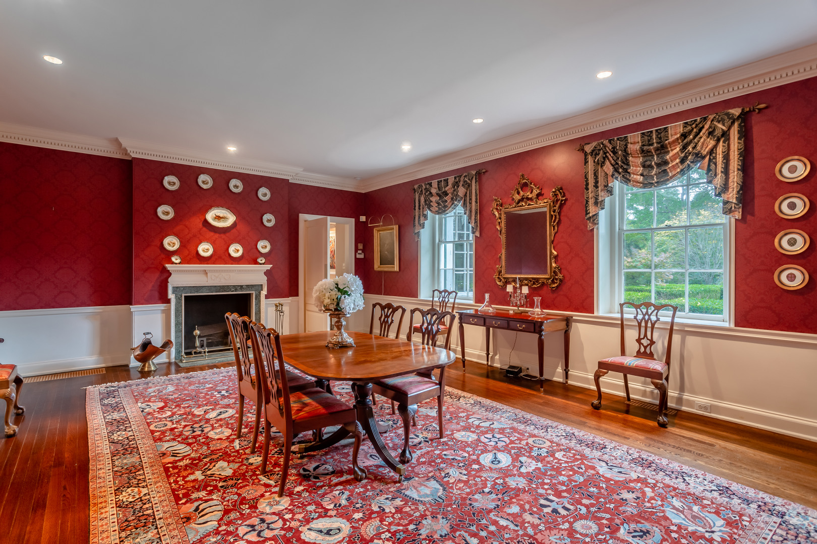 gladwyne colonial revival mansion formal dining room