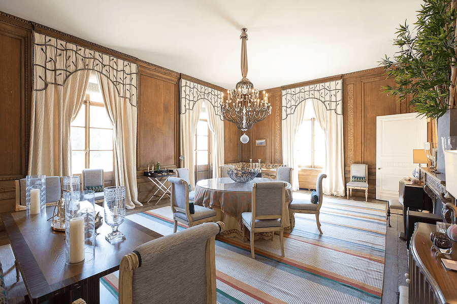 house for sale gladwyne french estate dining room
