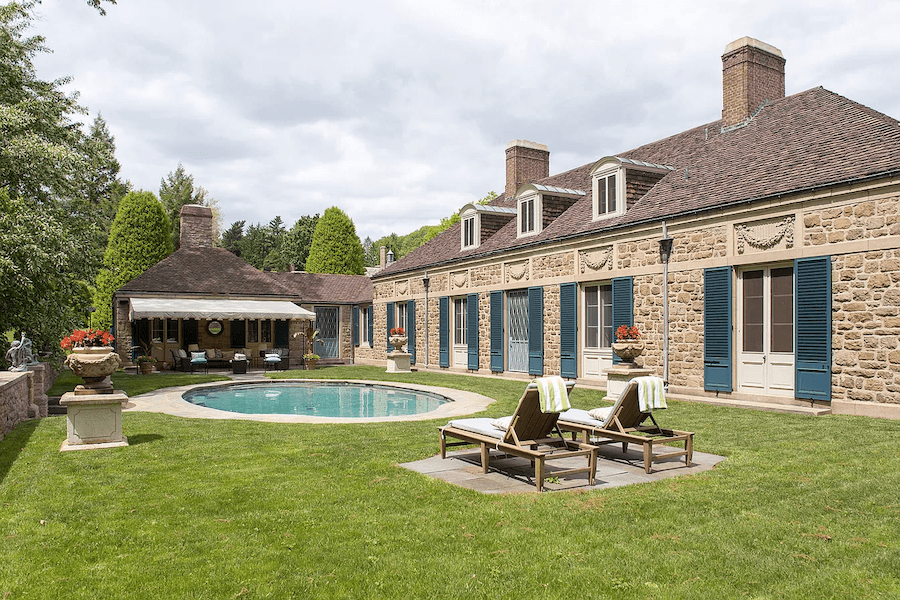 house for sale gladwyne french estate guest house pool