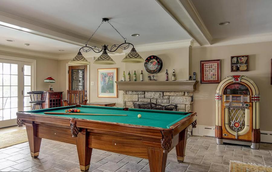 house for sale haddonfield tavistock tudor mansion game room