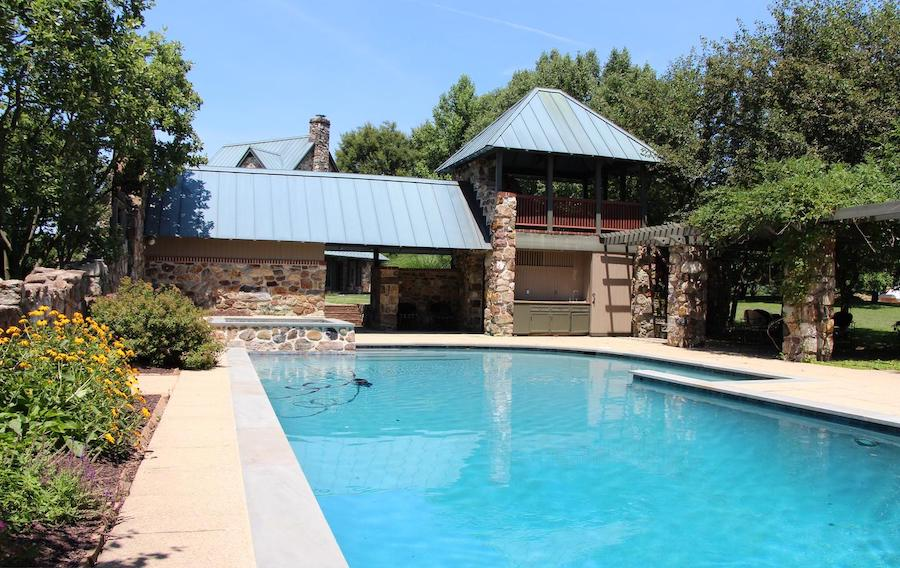 house for sale malvern modern medieval pool and pool house